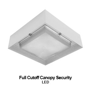 The BCL100-DSA is a full cutoff canopy security commercial LED fixture