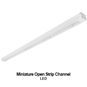 The STR050 is a miniature open commercial LED strip channel fixture