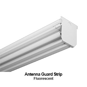 The AGS240 is an antenna guard commercial fluorescent strip