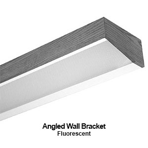 The BAN300 is an angled wall bracket fluorescent commercial fixture