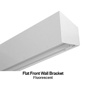 The BFF100 is a flat front commercial fluorescent wall bracekt fixture