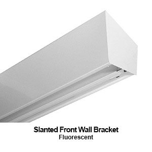 The BSF100 is a slanted front wall bracket commercial fluorescent fixture
