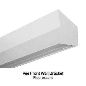 The BVF100 is a vee front wall bracket commercial fluorescent fixture