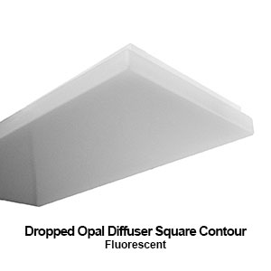 The DES100 is a fluorescent commercial fixture equipped with a dropped opal square contour diffuser