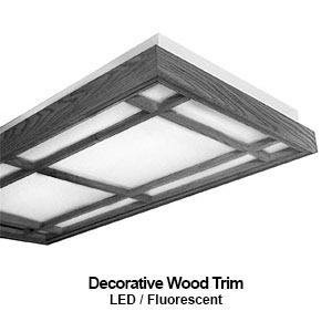 The DES120 is a decorative wood trim commercial LED fixture
