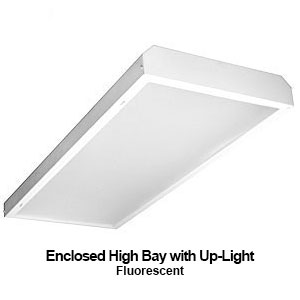 The EBY351 is a commerical fluorescent enclosed high bay fixture with uplight