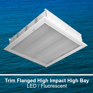 The FBL229 is a recessed trim flanged high impact commercial LED high bay fixture