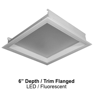 The FDH430-440 is a 6-inch depth trim flanged commercial fluorescent fixture