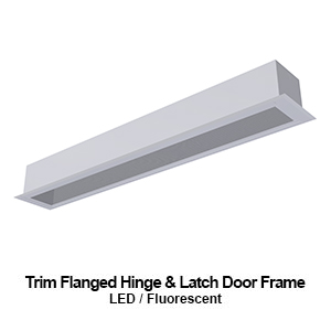 The FHL306 is a 6-inch wide trim flanged hinge and door frame commercial LED fixture