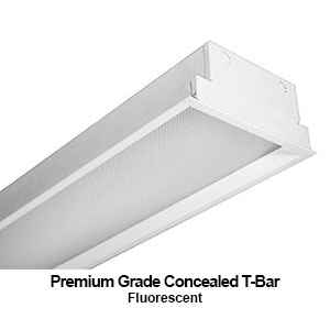 The GCT610 is a 1x4 recessed mounted premium grade concealed T-bar commercial fluorescent fixture