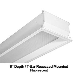 The GDH410 is a 1x4 6-inch depth T-bar recessed mounted commercial fluorescent fixture
