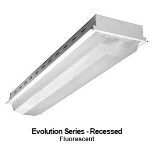 The GEV110 is a grid mounted recessed commercial fluorescent fixture from our Evolution Series
