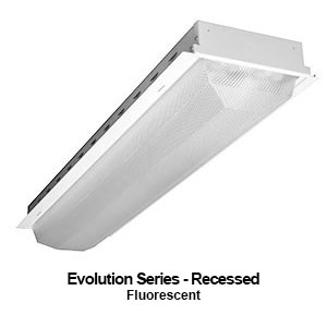 The GEV210 is a grid mounted recessed commercial fluorescent fixture from our Evolution Series