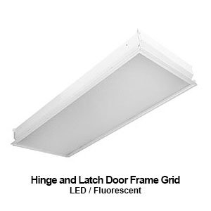 The GHL315 is a grid mounted hinge and door latch commercial fluorescent fixture