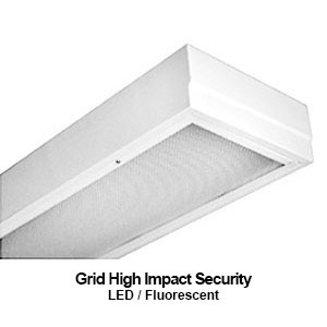 The GSE110 is a 1x4 grid mounted high impact security commercial LED fixture