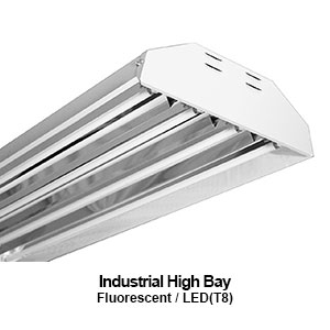 The HBI200 is a commercial fluorescent high bay fixture