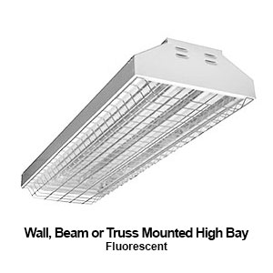 The HBI682 is a wall, beam, or truss mounted high bay commercial fluorescent fixture