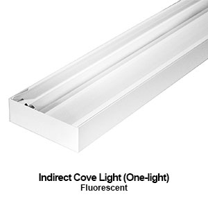 The ICL109 is a 1-lamp indirect commercial fluorescent cove lighting fixture