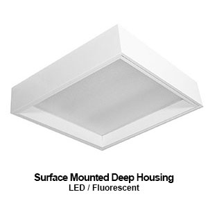 The MDH430/440 is a 3x3 or 4x4 surface mounted deep housing commercial LED fixture