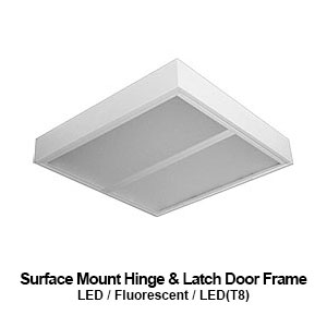 The MHL330/340 is a 3x3 or 4x4 surface mount hinge & latch door frame commercial LED fixture