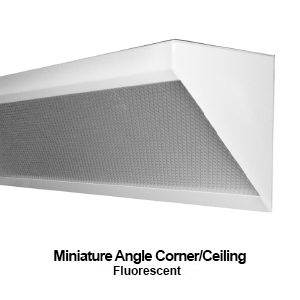 Compact version of a corner mount commercial LED lighting fixture