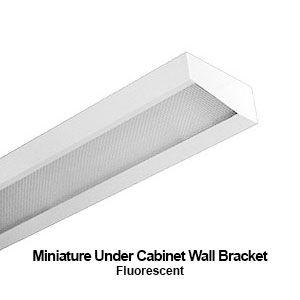 The MXBAN100 is a miniature designed under cabinet wall bracket commercial fluorescent fixture