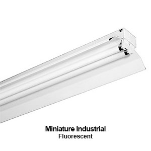 The MXIND210 is a miniature industrial fluorescent strip