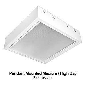 The PBL220 is a pendant mounted medium / high bay commercial fluorescent fixture
