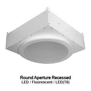 The RER100 is a round aperature recessed commercial fluorescent luminaire