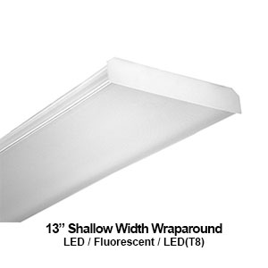 "The WAN113 is a 13"" shallow width wrapround commercial LED fixture"
