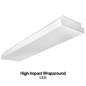 The WHO300 is a high impact commercial LED wraparound fixture