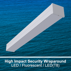 The WSE100 is a high impact wraparound commercial LED fixture