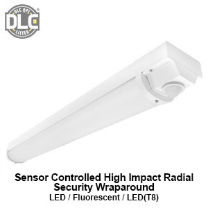 The WSE201 is a DLC qualified sensor controlled high impact radial security commericial LED wraparound fixture