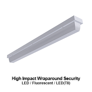 The WSE400 is a high impact security commercial LED wraparound fixture