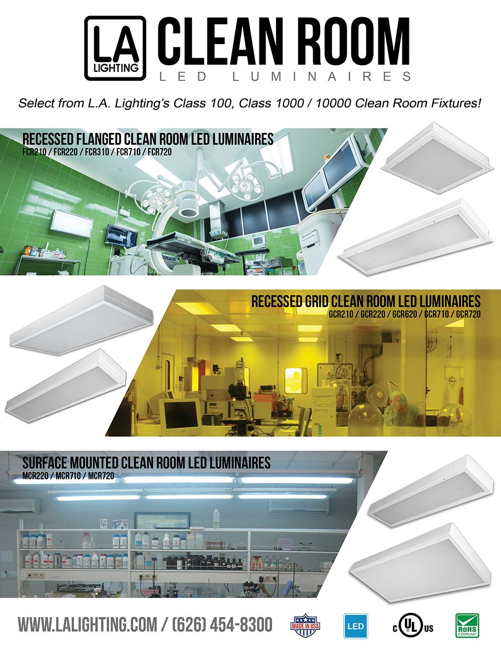 Led luminaires product promos la lighting clean room promo arubaitofo Gallery