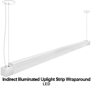 The STW180 is a indirect illuminated up-light strip LED wraparound