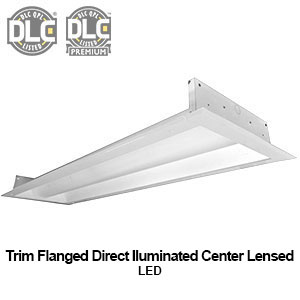 The FDC310 is a 1x4 trim flanged direct illuminated center lensed commercial LED fixture