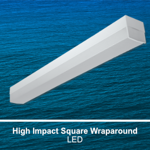 The WCP100 is a high impact square commerical LED wraparound fixture