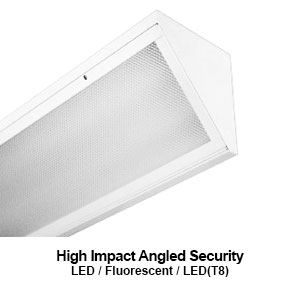 The ASE100 is a high impact angled security LED commercial fixture