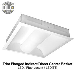 The FIC120 is a trim flanged indirect/direct center basket LED commercial fixture