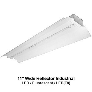 The IND220 is a commercial LED industrial with an 11-inch wide reflector