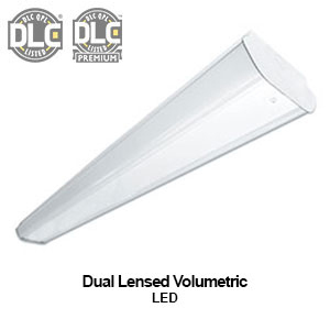 A true volumetric commercial LED fixture with 360 light output