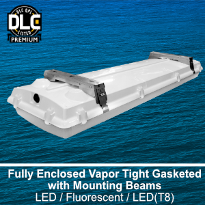 The CIT401 is a DLC qualified commercial LED high impact vapor tight fixture