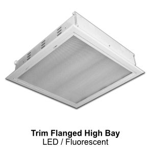 The FBL220 is a recessed trim flanged high bay commercial LED fixture