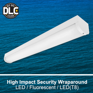 The WSE200 is a DLC qualified high impact security commercial LED fixture